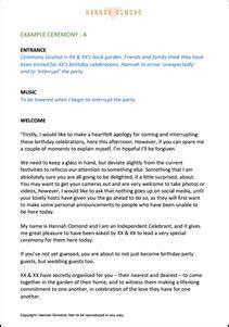 celebrant wedding ceremony script by osmond