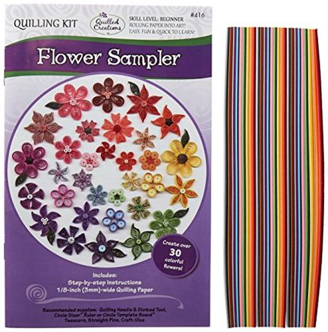 Quilling Paper Import quilled creations flower sle quilling kit import it all