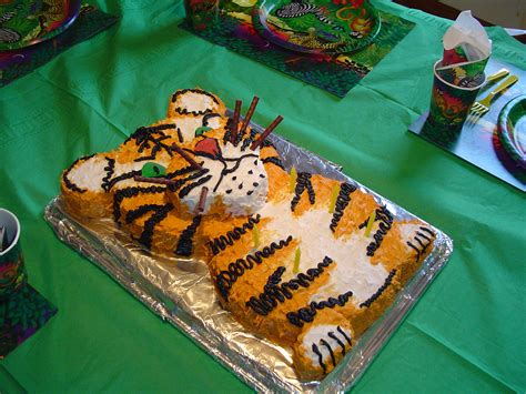 Anniversary Decorations Ideas Tiger Cake Rare Monsters