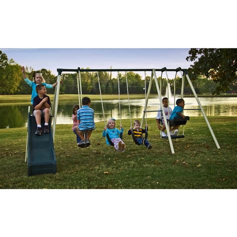 swing set at lowes shop flexible flyer forest park swing set at lowes com
