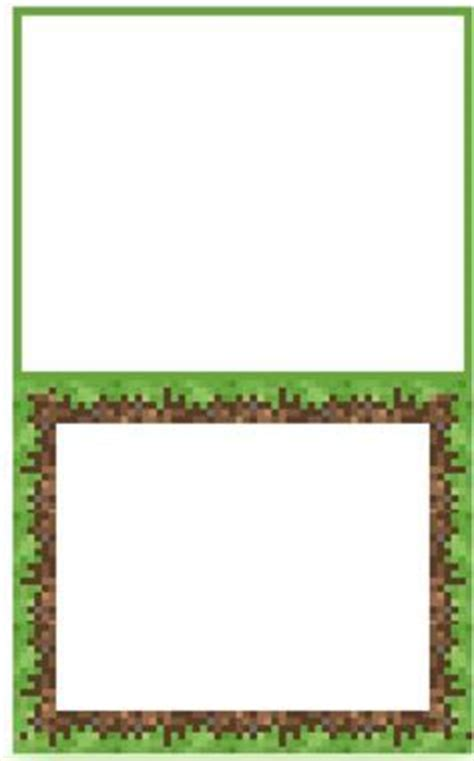 small tent card template border minecraft food tent cards food labels minecraft