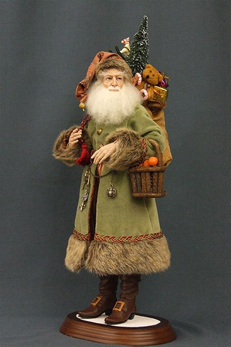 Handcrafted Santas - santa doll dolls santa di cacao by soto for