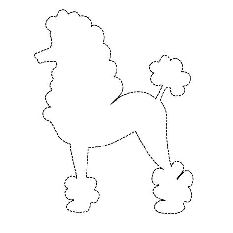 poodle applique pattern design patterns