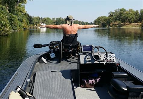wheelchair fishing boat accessible power boats for fishing new mobility