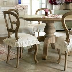 shabby chic dining room idea 2 minus the ruffly chair covers stile country chic pinterest