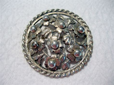 Handmade Silver Brooches - large handmade sterling silver brooch from dorothysbling