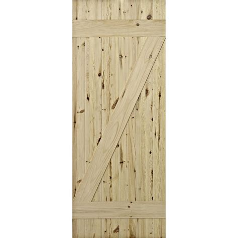 Pine Barn Door Colonial Elegance 37 In X 84 In Cellar Laminated Rustic Knotty Pine Barn Door To Go