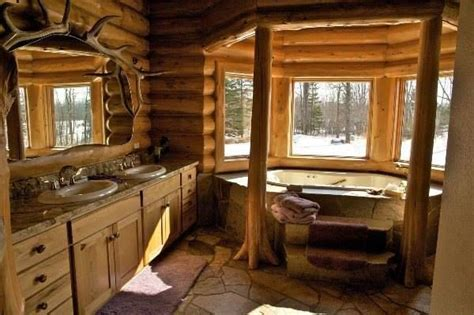 log cabin with bathroom and kitchen log cabin bathroom cabins and homes pinterest