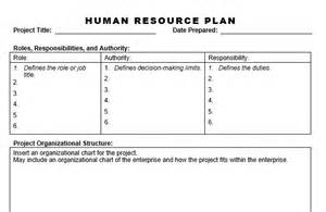 Human Resources Plan Template by Human Resource Plan Planning Engineer