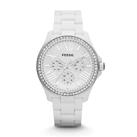 fossil cecile multifunction resin white am4494