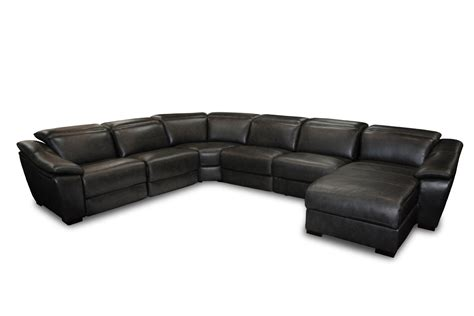 Divani Casa Jasper Modern Black Leather Sectional Sofa Modern Black Sectional Sofa
