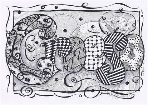 doodle name nia 17 best images about zentangle names on