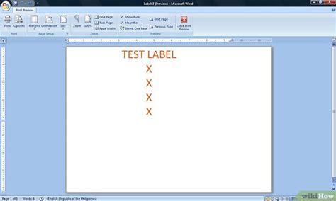 Etiketten Uit Excel In Word by Etiketten Maken In Microsoft Word Wikihow
