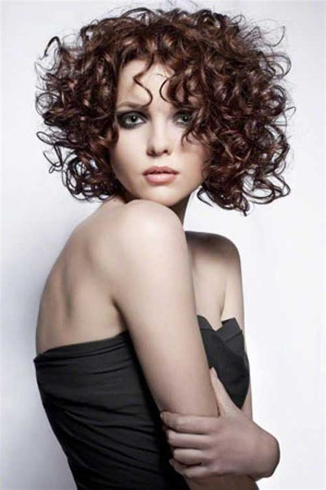 spiral hairstyles with bangs 25 curly perms for short hair short hairstyles