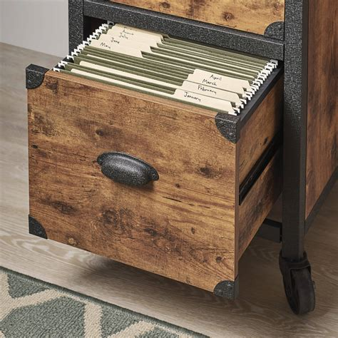 rustic wood file cabinet industrial rustic wood black metal 2 drawer file cabinet