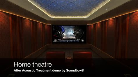 home theatre acoustic treatment demo youtube