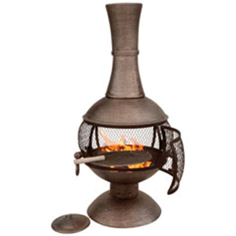Open Chiminea Medium Cast Iron Open Bowl Chiminea