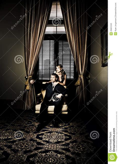wealthy young couple stock image image  male interior