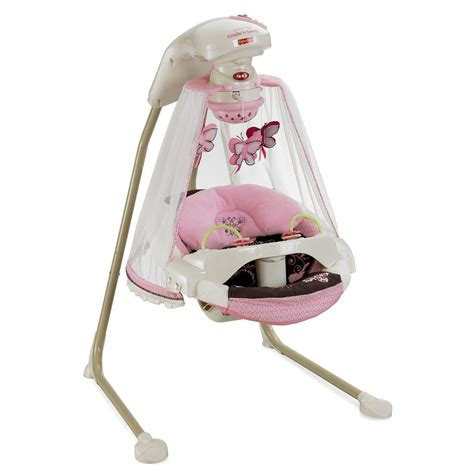 pink baby swings fisher price butterfly pink mocha mobile baby papasan