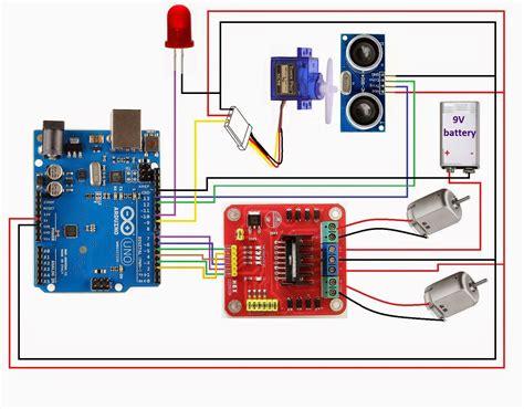 tutorial l298n arduino arduino l298 hcsr04 robotica circuits pinterest