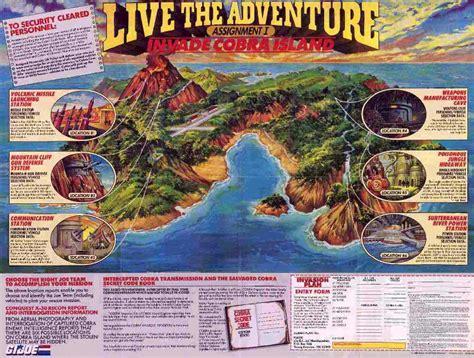 adventure map yojoe live the adventure map to cobra island