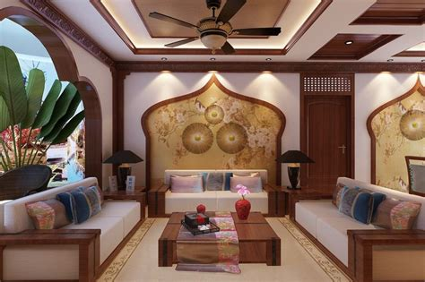 wood living room living room wood decoration design chinese style
