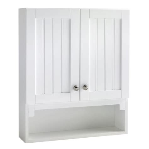 lowes bathroom wall cabinets style selections ellenbee 28 in h x 23 1 4 in w x 6 1 2 in