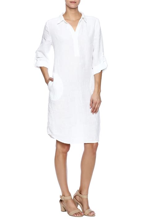 linen white shirt dress nuthatch white linen shirt dress from williamsburg by east