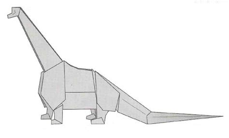 Origami Brontosaurus - index of origami oridino