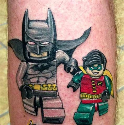 joker lego tattoo 15 completely awesome lego tattoos batman and robin guff