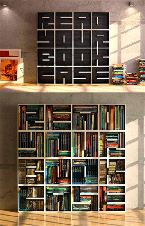 cool bookcase has a hidden message for you when it s empty techeblog