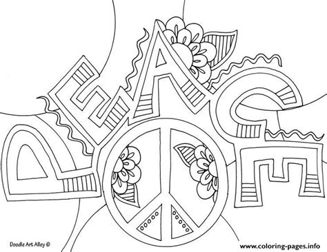 The Word Peace Coloring Pages
