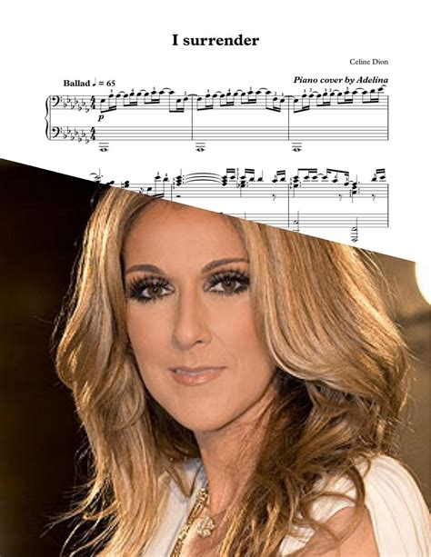 short biography of celine dion in english quot i surrender quot celine dion piano sheet music