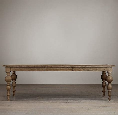Weathered Gray Grand Baluster Dining Tables Baluster Dining Table