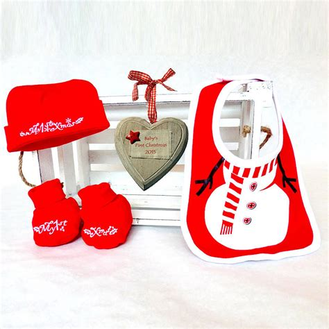 personalised baby s first christmas gift box by bright