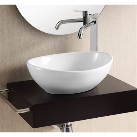 oval vessel bathroom sinks bathroom sink caracalla ca4047 oval white ceramic vessel
