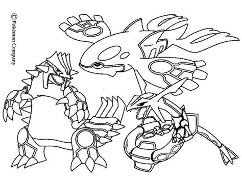 pokemon coloring pages groudon and kyogre groudon raykaza and kyogre coloring pages hellokids com