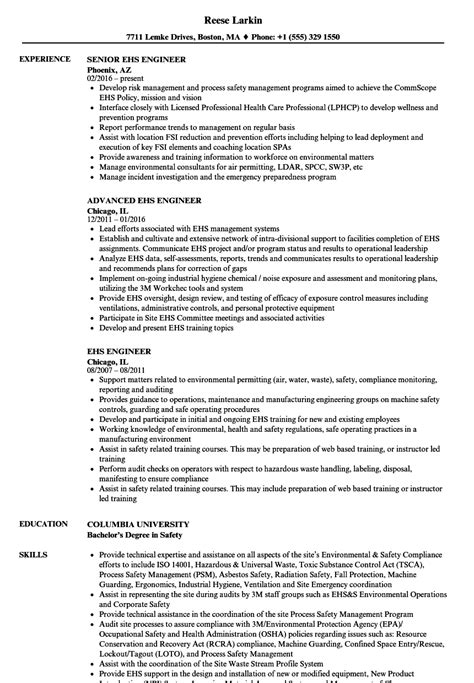 ehs engineer resume embellishment resume ideas
