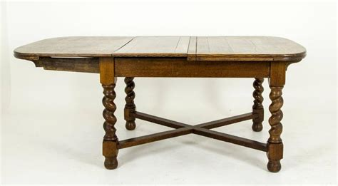 antique scottish tiger oak oversized pull out draw leaf