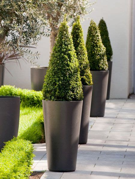 alto tall  tapered outdoor planter pot outdoor