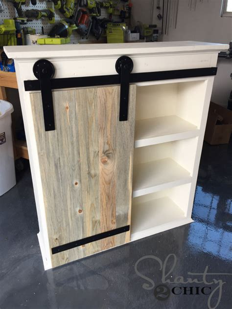 Barn Door Cabinets Diy Sliding Barn Door Bathroom Cabinet Shanty 2 Chic