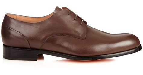 paul smith charles leather derby shoes in brown for lyst