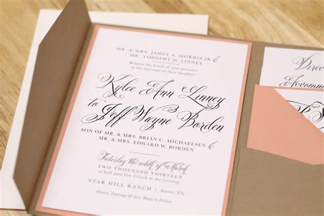 kxo design rustic wedding invitation with kraft pocketfold and custom map