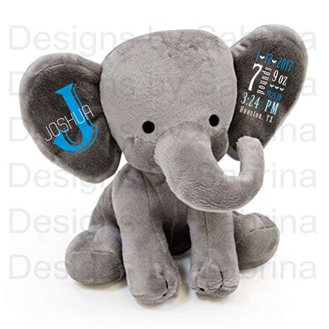 Elephant Baby Shower Gifts by Personalized Elephant Personalized Baby Gift Baby Shower