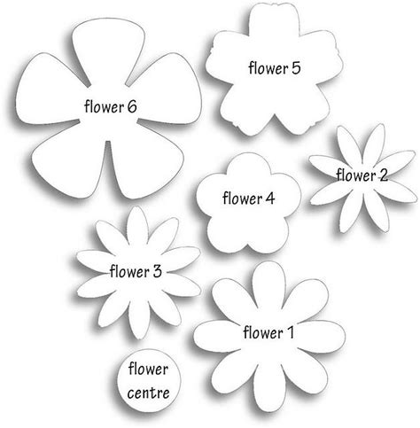 paper flower cut out template 25 best ideas about flower template on paper