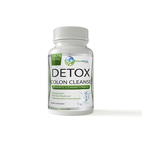 Detox Diet Vitamins by Green World Vitamins Herbal Detox Colon Cleanse 100