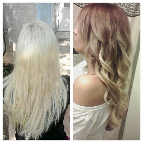 from platinum blonde to ombre platinum blonde to ombr 233 brown before and after blonde