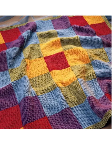 Knitted Patchwork Throw Pattern - patchwork blanket pattern knitting patterns and crochet