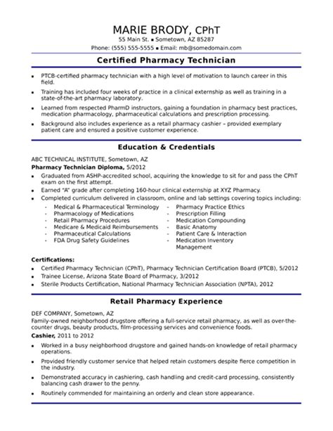 Certified Pharmacy Technician Resume by Pharmacy Technician Resume