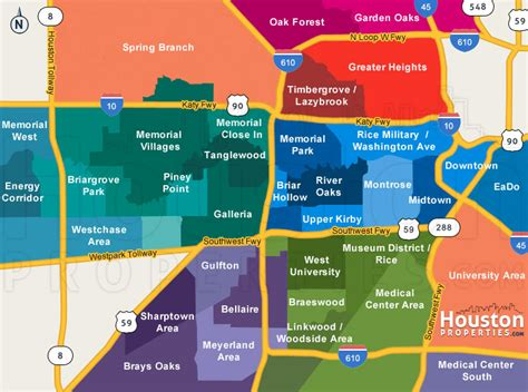 houston zip code map inner loop houston neighborhoods houston map real estate homes